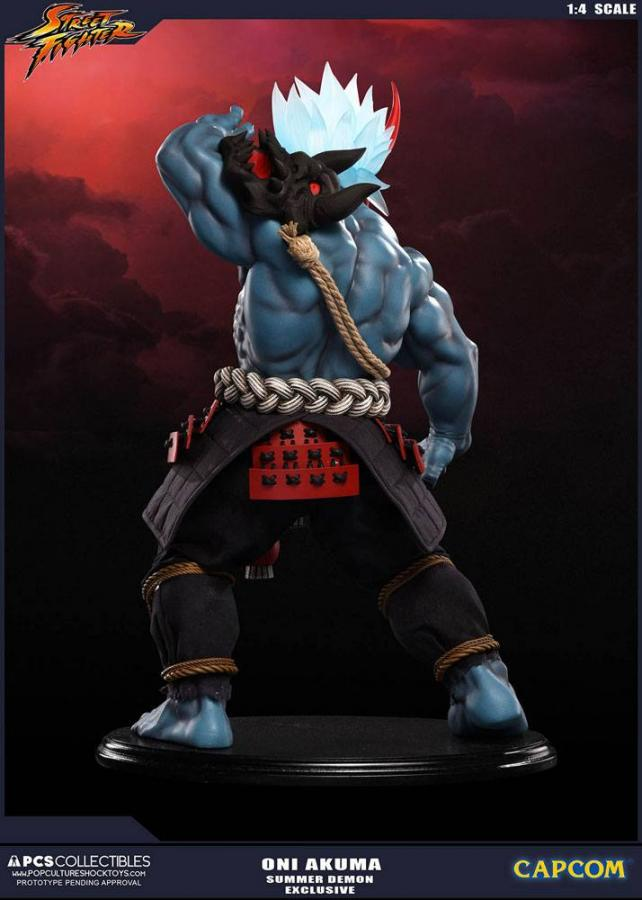 Street Fighter Statue 1/4 Oni Akuma Summer Demon Exclusive 45 cm