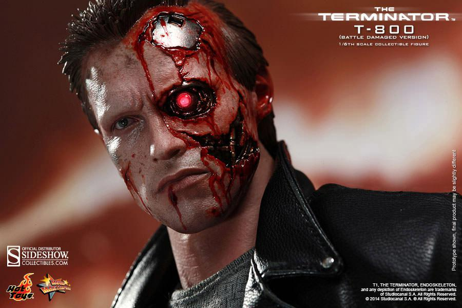 Terminator Movie Masterpiece Action Figure 1/6 T-800 Ba ...