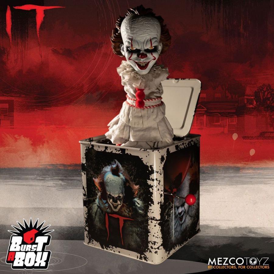 MEZCO BURST A BOX NIGHTMARE ON ELM STREET FREDDY KRUEGER 36CM MUSIC BOX
