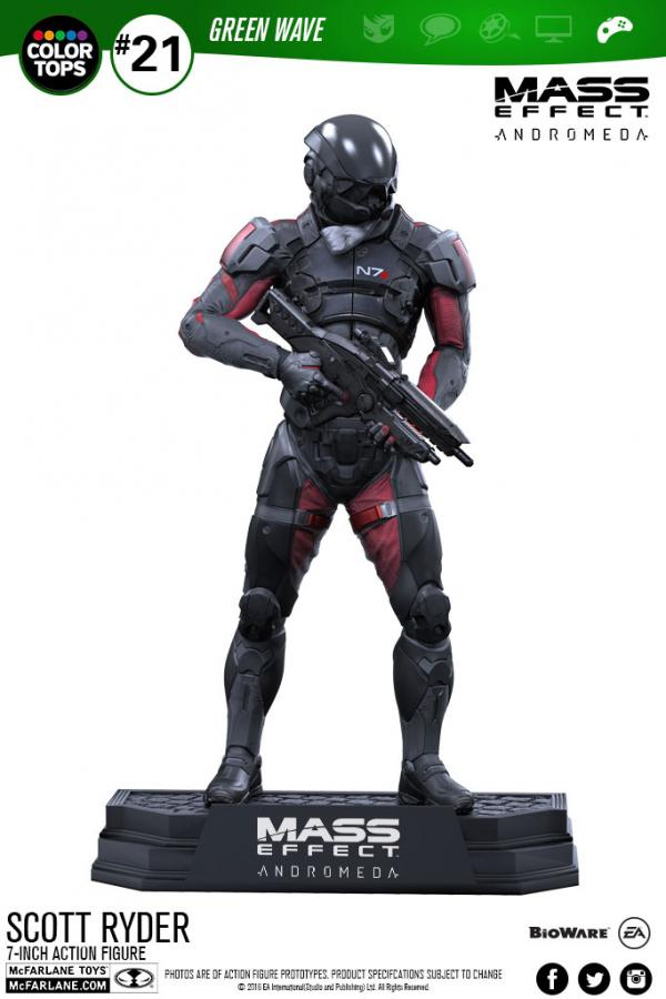 Mass Effect Andromeda Color Tops Figure Scott Ryder