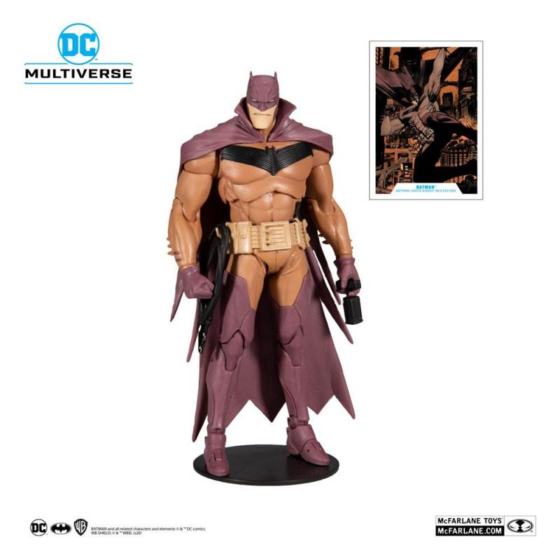 DC Multiverse: White Knight Batman (Red Variant) 18 cm Action Figure - McFarlane Toys
