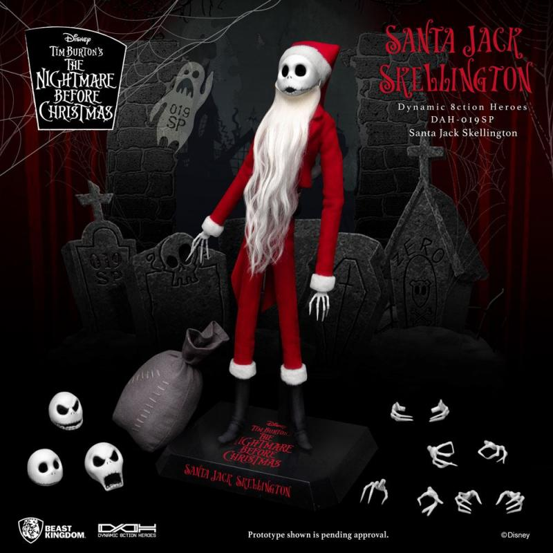 Nightmare before Christmas Dynamic 8ction Heroes Action Figure 1/9 Santa Jack Skellington