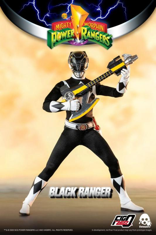 Mighty Morphin Power Rangers FigZero Action Figure 1/6 Black Ranger 30 cm