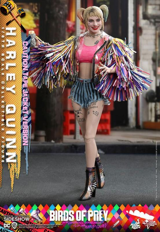 Birds of Prey Action Figure 1/6 Harley Quinn (Caution Tape Jacket Version) 29 cm