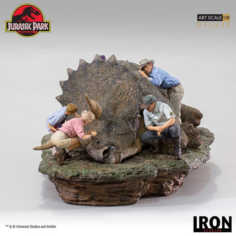 Jurassic Park Deluxe Art Scale Diorama 1/10 Triceratops 74 cm