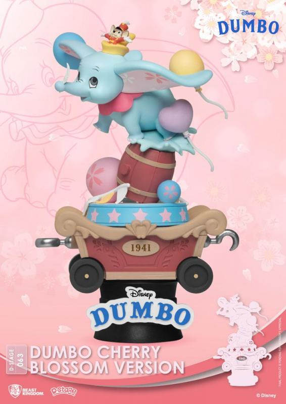Disney D-Stage PVC Diorama Dumbo Cherry Blossom Version 15 cm