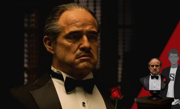 THE GODFATHER 1972 EDITION LIFE-SIZE BUST 1/1 62CM BY DAMTOYS