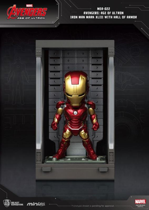 Avengers Age of Ultron Mini Egg Attack Action Figure Hall of Armor Iron Man Mark XLIII 8cm