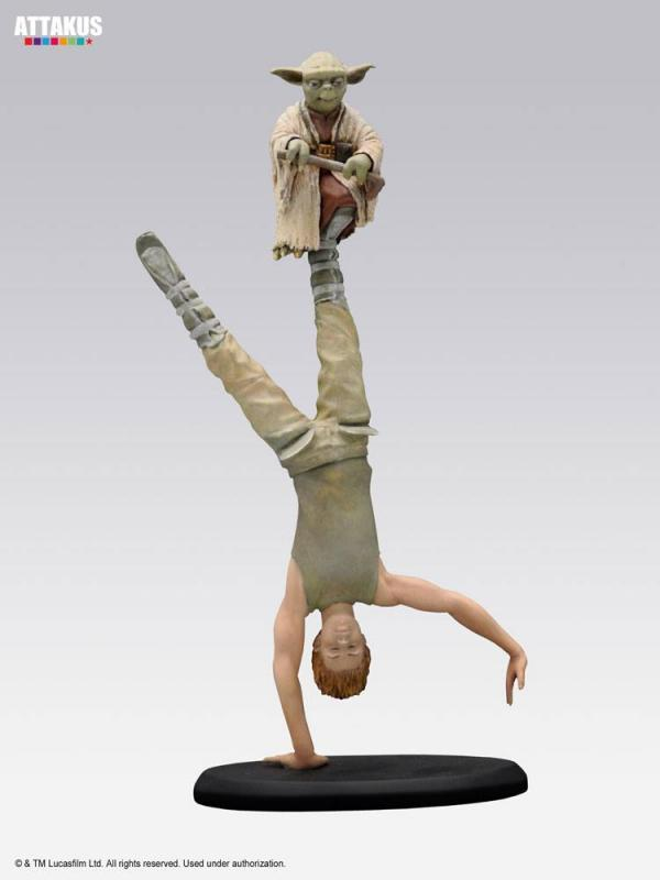 Star Wars Elite Collection Statue Yoda & Luke Skywalker Dagobah Training 26 cm