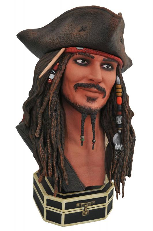 Pirates of the Caribbean Legends in 3D Bust 1/2 Jack Sparrow 25 cm