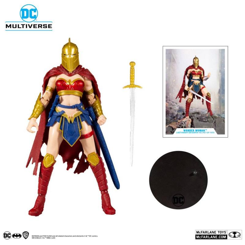 DC Multiverse: LKOE Wonder Woman with Helmet of Fate 18 cm Action Figure - McFarlane Toys