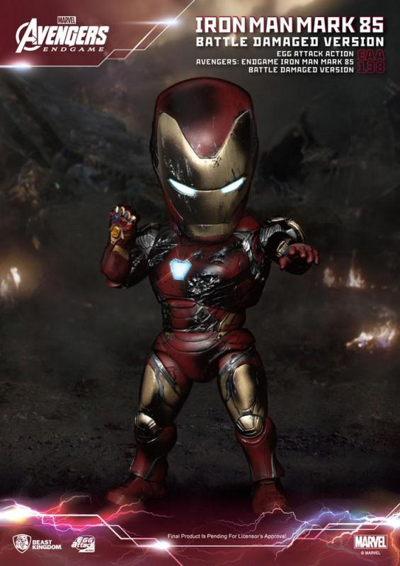 Avengers: Endgame Egg Attack Action Figure Iron Man Mark 85 Battle Damaged Version 16 cm
