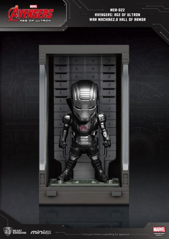 Avengers Age of Ultron: Hall of Armor War Machine - Mini Egg Figure - Beast Kingdom