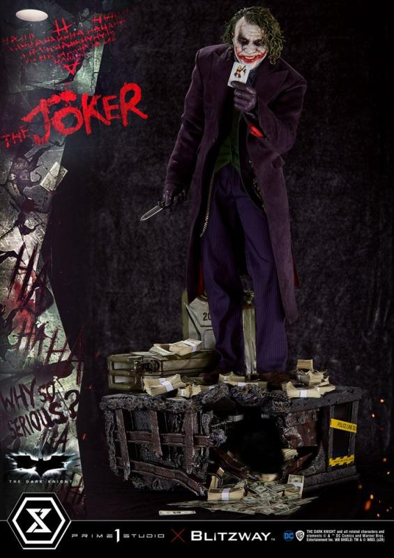 The Dark Knight Statue 1/3 The Joker Bonus Version 72 cm