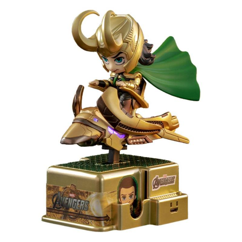 Marvel Comics CosRider Mini Figure with Sound & Light Up Loki 15 cm