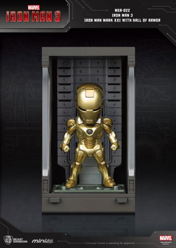 Iron Man 3: Iron Man Mark XXI - Mini Egg Figure Hall of Armor 8 cm - Beast Kingdom