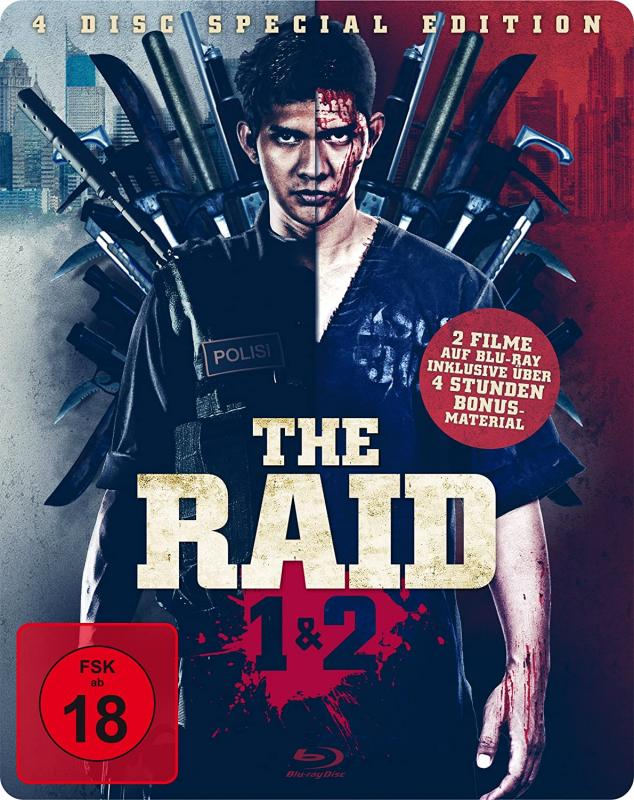 The Raid Blue-ray Steelbook 4 DISC