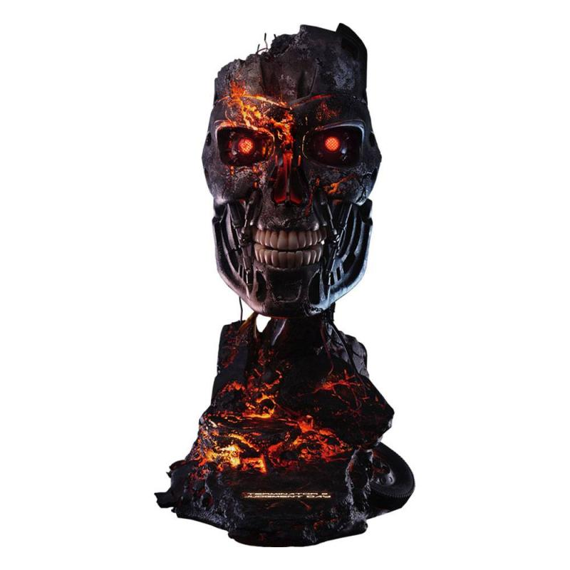 Terminator 2: Judgment Day Replica 1/1 T-800 Endoskeleton Mask Battle Damaged Version 46 c