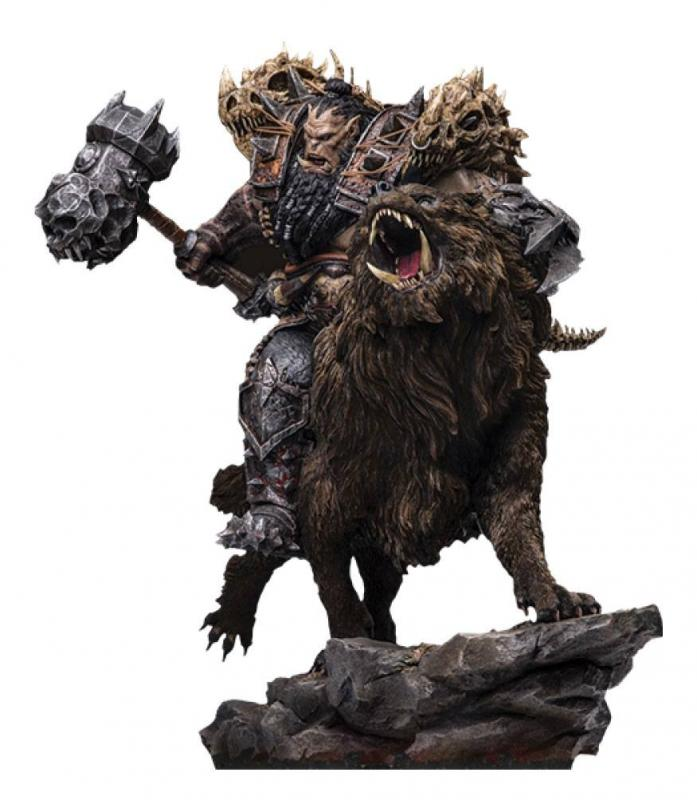 Warcraft: The Beginning Statue 1/9 Blackhand Riding Wolf (Standard Version) 40 cm