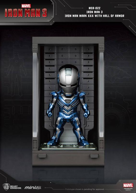 Iron Man 3 Mini Egg Attack Action Figure Hall of Armor Iron Man Mark XXX 8 cm