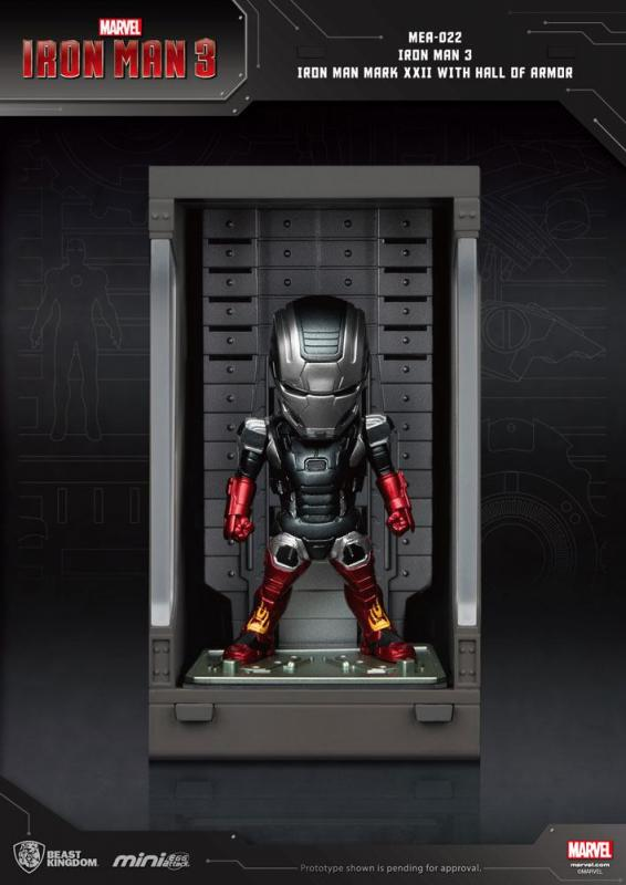 Iron Man 3: Iron Man Mark XXII - Mini Egg Figure Hall of Armor 8 cm - Beast Kingdom