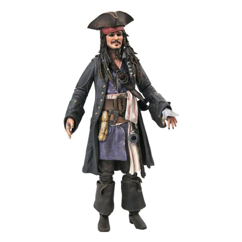 Pirates of the Caribbean: Jack Sparrow Deluxe Action Figure 18 cm - Diamond Select
