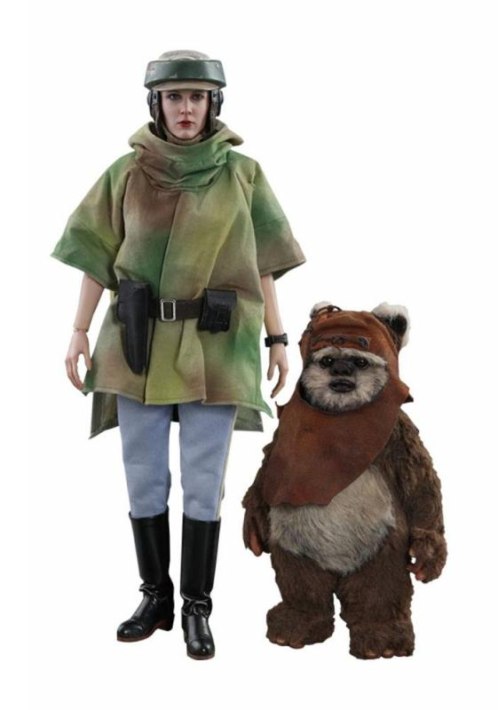 Star Wars Episode VI Movie Masterpiece Action Figure 2-Pack 1/6 Princess Leia & Wicket