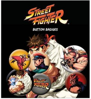 Street Fighter Pin Badges 6-Pack Mix
