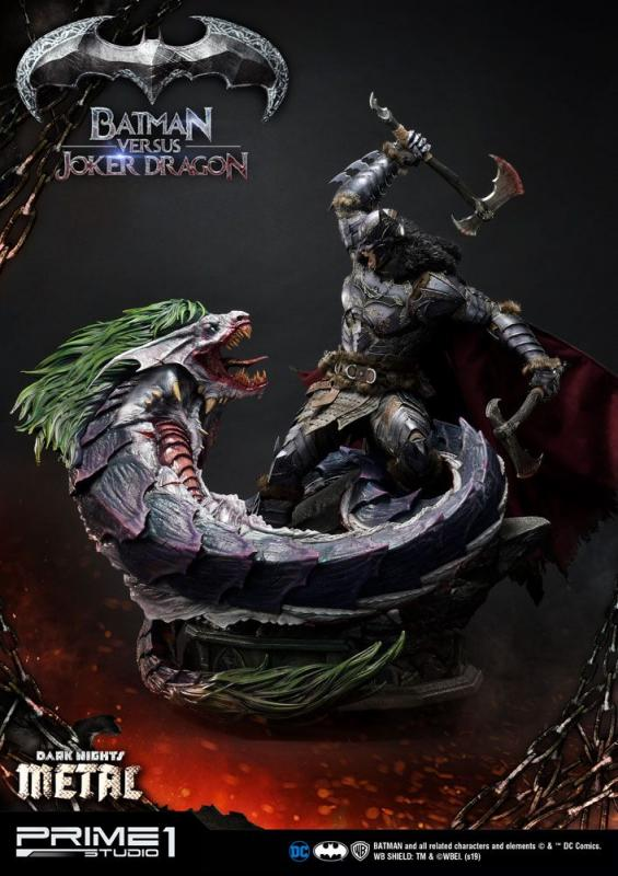 Dark Nights: Metal Batman Versus Joker Dragon - Statue 87 cm - Prime 1 Studio