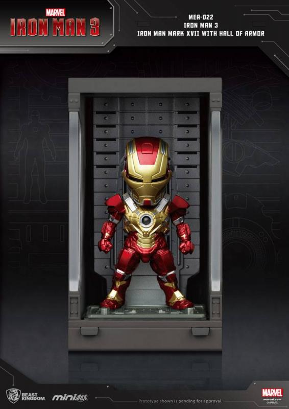 Iron Man 3: Iron Man Mark XVII - Mini Egg Figure Hall of Armor 8 cm - Beast Kingdom