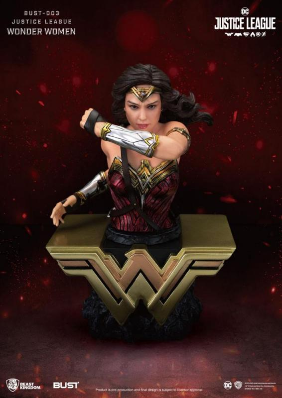 Justice League: Wonder Woman - PVC Bust 15 cm - Beast Kingdom Toys