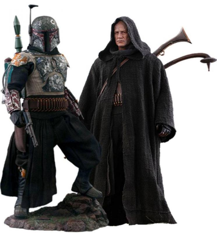 Star Wars The Mandalorian: Boba Fett 1/6 Action Figure 2-Pack Deluxe Version - Hot Toys