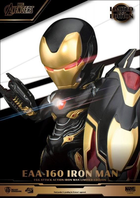 Avengers Infinity War Egg Attack Action Figure Iron Man Mark 50 Limited Edition 16 cm