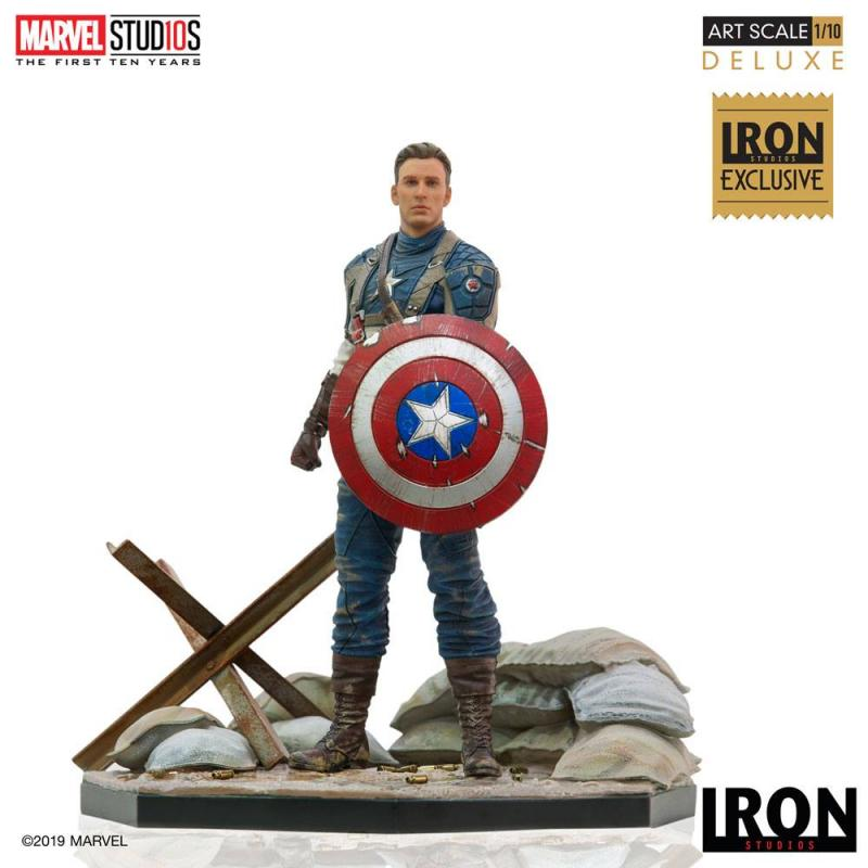 Marvel Comics BDS Art Scale Statue 1/10 Captain America First Avenger MCU 10 Years Event E