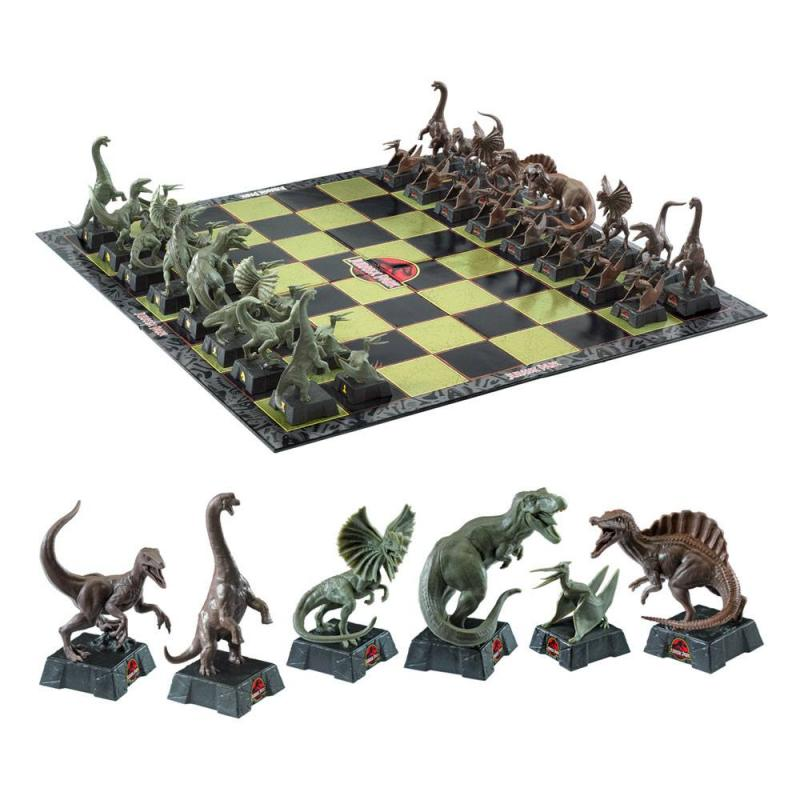 Jurassic Park Chess Set Dinosaurs - Noble Collection