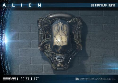 Alien 3D Wall Art Big Chap Head Trophy 58 cm