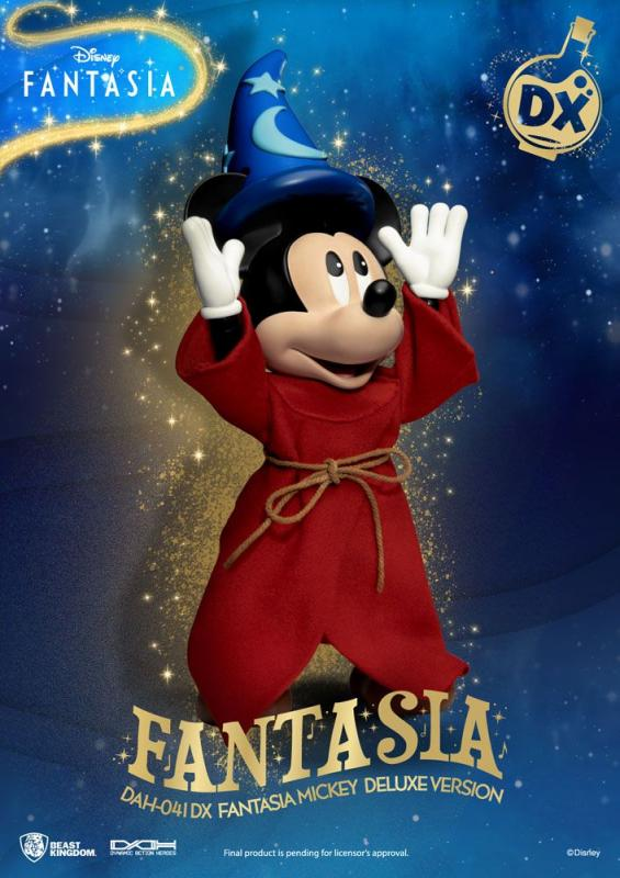 Disney Classic Dynamic 8ction Heroes Action Figure 1/9 Mickey Fantasia Deluxe Version 21 c
