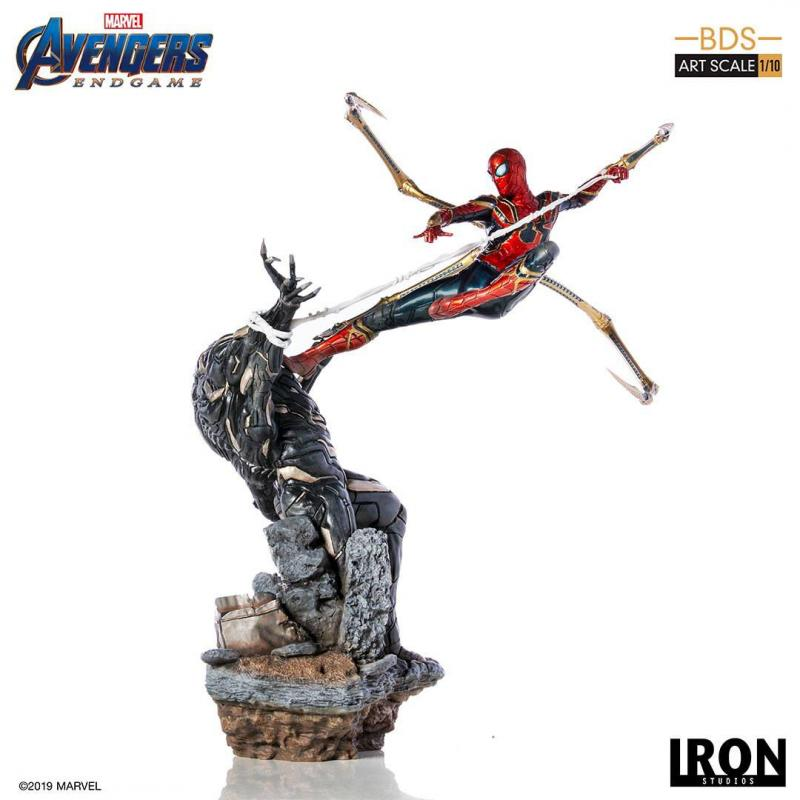 Avengers Endgame: Iron Spider vs Outrider - BDS Art Scale Statue 1/10 - Iron Studios