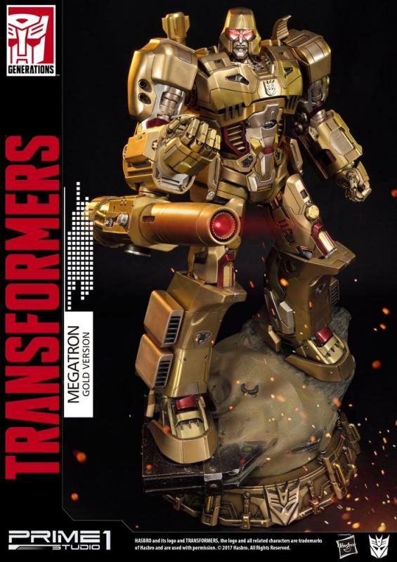 Transformers Generation 1 Statue Megatron Gold Version 59 cm