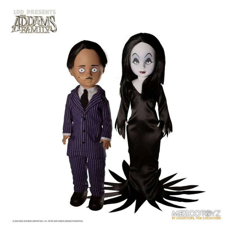 The Addams Family: Gomez & Morticia - Living Dead Dolls  25 cm - Mezco
