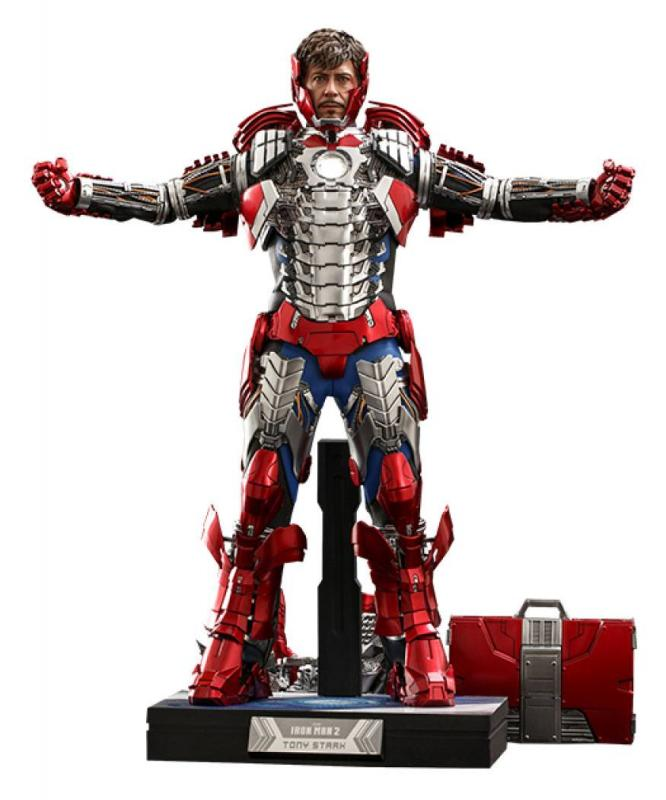 Iron Man 2: Tony Stark (Mark V Suit Up Version) Deluxe 1/6 Action Figure - Hot Toys