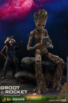 Avengers Infinity War Movie Masterpiece Action Figure 2-Pack 1/6 Groot & Rocket 16 - 30 cm