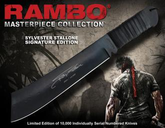 Rambo IV Replica 1/1 Knife S.Stallone Signature