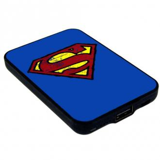Superman Credit Card Sized Power Bank 5000 mAh Logo