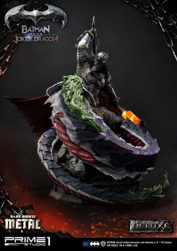 Dark Nights: Metal Statue Batman Versus Joker Dragon Deluxe Ver. 87 cm