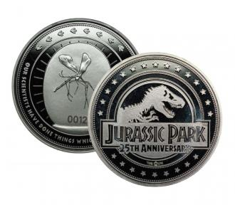 Jurassic Park: 25th Anniversary (silver plated) Collectable Coin - Iron Gut Publishing