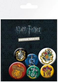 Harry Potter Pin Badges 6-Pack Crests