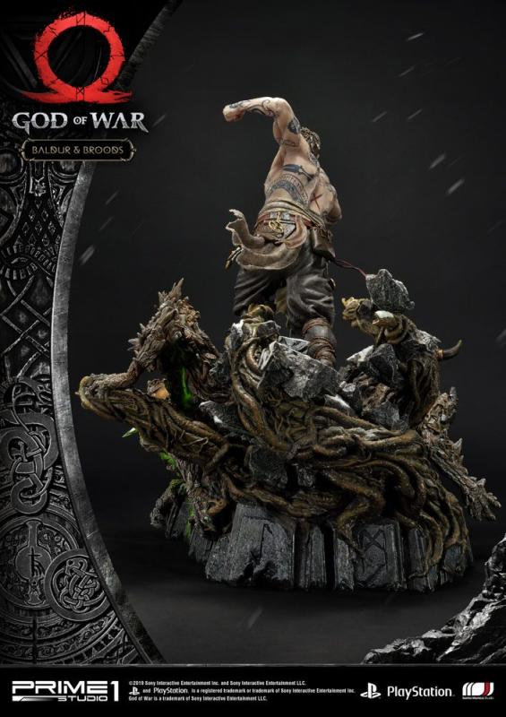 God of War (2018) Statue Baldur & Broods 62 cm