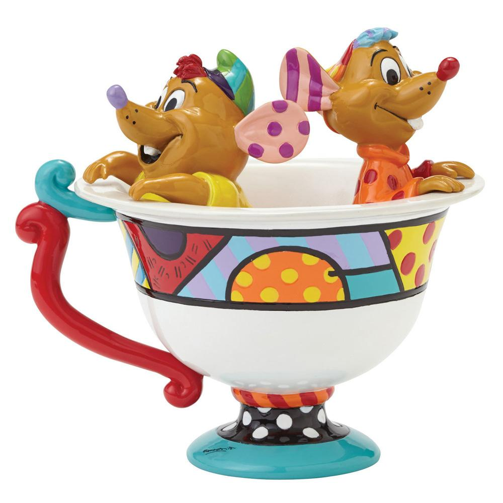 Britto Jaq & Gus in Tea Cup Figurine 12,5 cm