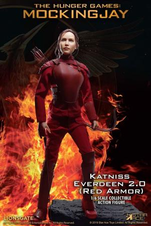 The Hunger Games Mockingjay Part 1 Action Figure 1/6 Katniss Everdeen Red Armor Ver. 3